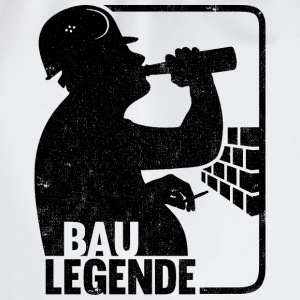 BAU LEGENDE Weisses T-Shirt - Turnbeutel