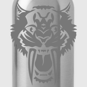 Tiger big tooth ferocious 7122 T-Shirts - Water Bottle