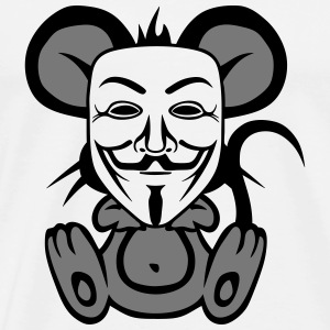 anonymousse anonymous mouse humor  Aprons - Men's Premium T-Shirt