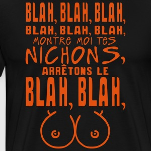 blah nichon seins citation montre Tabliers - T-shirt Premium Homme