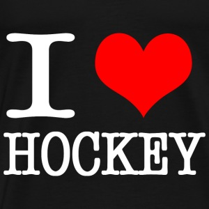 I love hockey - white Bags & Backpacks - Men's Premium T-Shirt