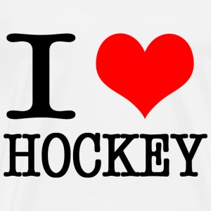 I love hockey - black Sports wear - Men's Premium T-Shirt