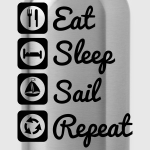 Eat sleep sail Magliette - Borraccia