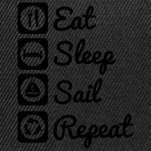 Eat sleep sail Magliette - Snapback Cap