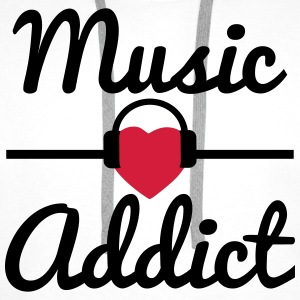 Music addict  - Men's Premium Hoodie