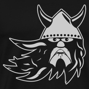 Sort viking warrior 1k outline DK Sweatshirts - Herre premium T-shirt