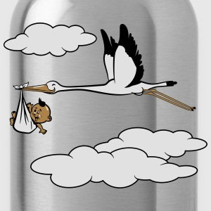 storch baby  T-Shirts - Trinkflasche