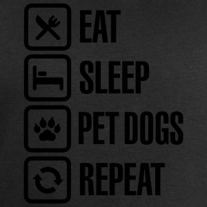 Eat Sleep Pet dogs Repeat Camisetas - Sudadera hombre de Stanley & Stella