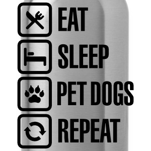 Eat Sleep Pet dogs Repeat T-Shirts - Water Bottle