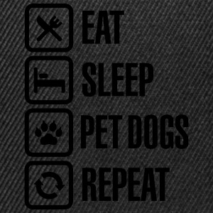 Eat Sleep Pet dogs Repeat T-Shirts - Snapback Cap