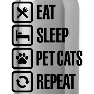 Eat Sleep Pet cats Repeat T-shirts - Vattenflaska