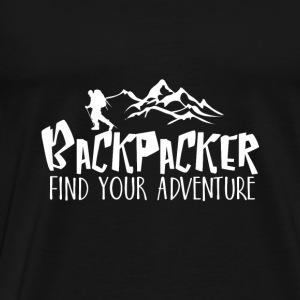 Backpacker Travel Manches longues - T-shirt Premium Homme