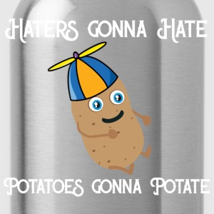 Haters gonna Hate Potatoes gonna potate Shirts - Water Bottle