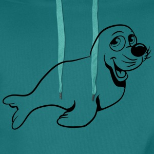 Seehund sweet play T-Shirts - Men's Premium Hoodie