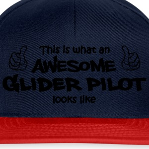 awesome glider pilot Sweat-shirts - Casquette snapback