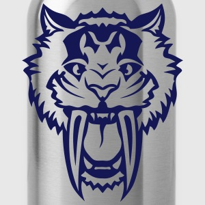 Tiger big tooth fierce 1003 T-Shirts - Water Bottle