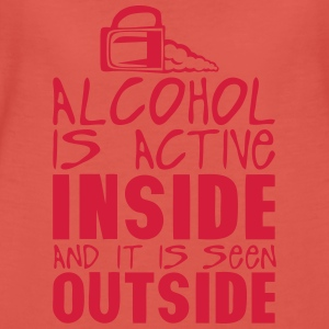 alcohol active inside seen outside Pullover & Hoodies - Frauen Premium T-Shirt