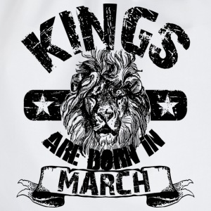 Kings Are Born In March T-Shirts - Turnbeutel
