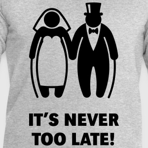 It's Never Too Late! (Mature Couple / Wedding) Long sleeve shirts - Men's Sweatshirt by Stanley & Stella