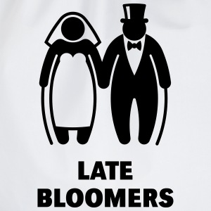 Late Bloomers (Mature Couple / Wedding) T-Shirts - Drawstring Bag