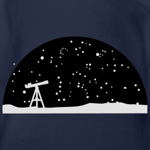 Astronomie, Telescope and stars Shirts - Organic Short-sleeved Baby Bodysuit
