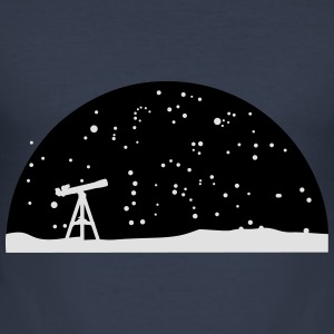 Astronomy, Telescope and stars Gensere - Slim Fit T-skjorte for menn