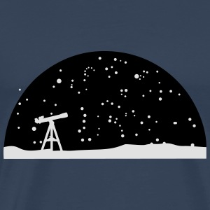 Astronomie, Telescope and stars Long Sleeve Shirts - Men's Premium T-Shirt