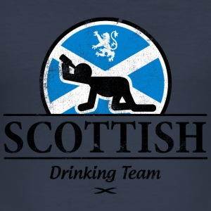 SCOTTISH DRINKING TEAM Hoodies & Sweatshirts - Men's Slim Fit T-Shirt