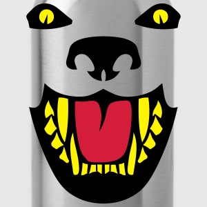 Fierce dog open mouth 112 Long sleeve shirts - Water Bottle