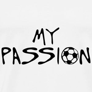 soccer football my passion citation spor Manches longues - T-shirt Premium Homme
