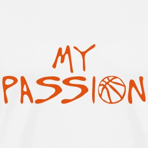 basketball my passion citation sport Manches longues - T-shirt Premium Homme