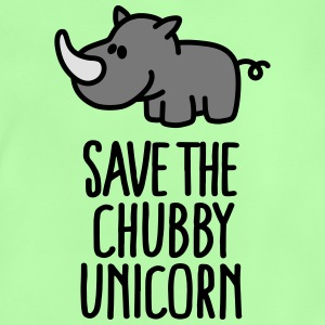 Save the chubby unicorn Skjorter - Baby-T-skjorte