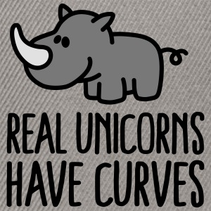 Real unicorns have curves Magliette - Snapback Cap