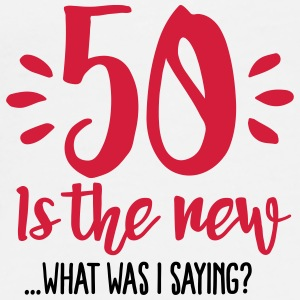 50 is the new ...What was I saying? Muggar & tillbehör - Premium-T-shirt herr