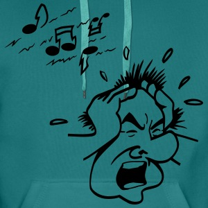 Head hands loud music T-Shirts - Men's Premium Hoodie