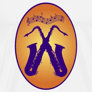 saxophones / Music / Jazz Mugs & Drinkware - Men's Premium T-Shirt