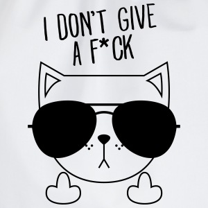 Geek Cat | Sunglasses | Don't Give A FCK T-Shirts - Turnbeutel