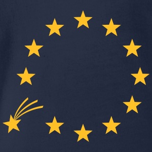 EU, Stars, Europe, European Union, falling star Shirts - Organic Short-sleeved Baby Bodysuit