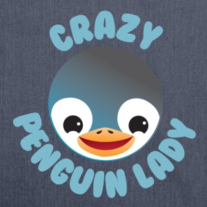 crazy penguin lady T-Shirts - Shoulder Bag made from recycled material