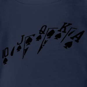 poker hand - Organic Short-sleeved Baby Bodysuit
