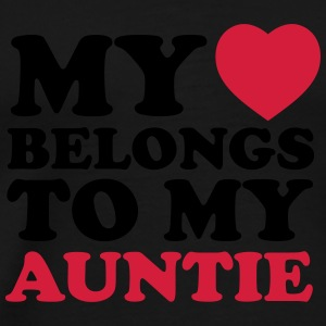 My heart belongs to my auntie - Men's Premium T-Shirt