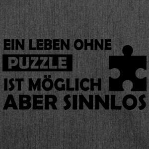 ein leben ohne puzzle T-Shirts - Schultertasche aus Recycling-Material