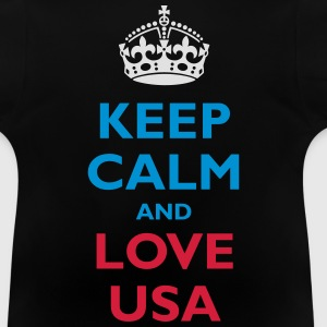 Keep Calm and Love USA - Baby-T-shirt
