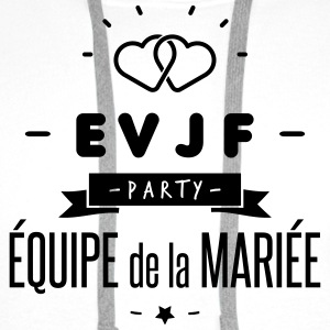 EVJF party Badges - Sweat-shirt à capuche Premium pour hommes
