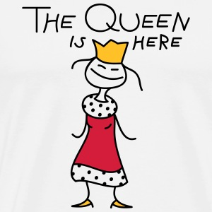 The Queen Langærmede T-shirts - Herre premium T-shirt