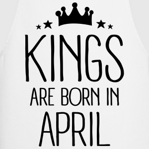 Kings Are Born In April Tee shirts - Tablier de cuisine