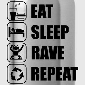 Eat,sleep,rave,repeat t-shirt  - Trinkflasche