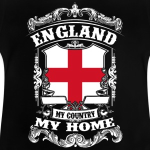 England - My country - My home Manches longues - T-shirt Bébé