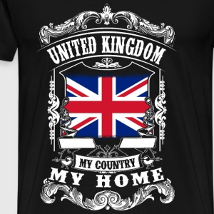 United Kingdom - My country - My home Toppar - Premium-T-shirt herr
