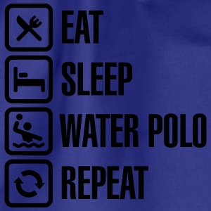 Eat Sleep Water Polo Repeat Camisetas - Mochila saco